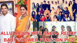 allu arjun wife sneha reddy u0027s baby shower ceremony video youtube