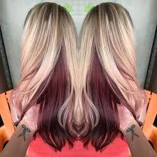 dark hair underneath light on top hair color ideas dark underneath light on top blonde brown dye 33