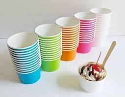 25 cups small fruit bowl 4 oz paper