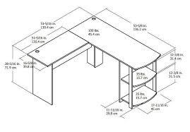 ameriwood home dakota l shaped desk with bookshelves espresso dorel l shaped desk walmart canada