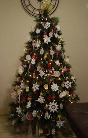 crochet cross ornaments hanging decorations tree