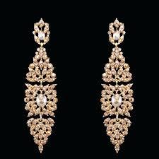 Huge Chandelier Earrings Large Gold Chandelier Earrings Elegant Big Long Crystal Chandelier