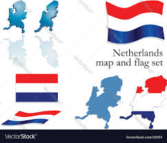 netherlands map flag netherlands map and flag set royalty free vector image