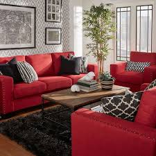 Red Couch Decor | bold red couches what a statement redcouch statementcolor