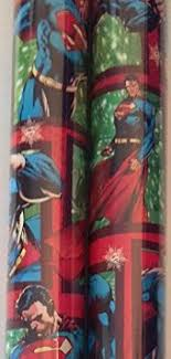 superman wrapping paper buy 2 rolls boys licensed christmas wrapping paper superman in