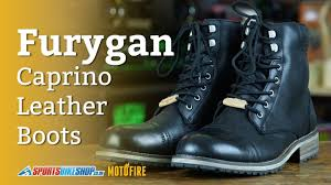 leather motorcycle boots furygan caprino leather motorcycle boots overview youtube