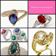 model2 cincin cari model dan jenis cincin wanita batu permata cincin cewek batu