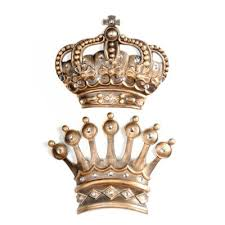 His Her Jumbo Gold Jeweled Crown Wall Plaques