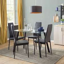 4 Chair Dining Sets Ave Dining Set With 4 Chairs Reviews Wayfair Co Uk