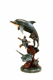 dolphin coffee tables dolphin and undersea friends sculpture by spi home 165 you save
