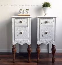 Upcycled Side Table Snow White Upcycled Bedside Tables General Finishes Design Center