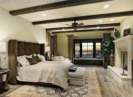 master bedroom with distressed wood floor contemporary bedroom
