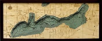 map of lake geneva wi lake geneva wisconsin nautical wooden chart wooden map