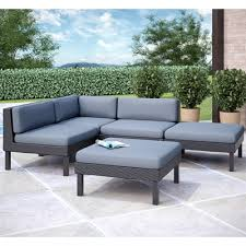 corliving ppo 8 oakland 5 piece sectional with chaise lounge patio