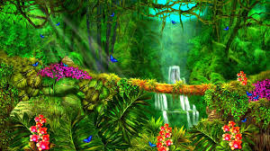 forests nature paintings flowers four attractions beautiful