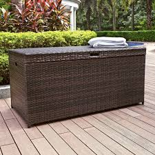 outdoor stunning intricate wicker deck box resin wicker and
