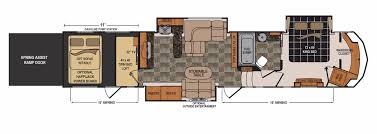 Front Living Room 5th Wheel Floor Plans 100 Rv Floor Plans Bunk Beds Class A Rv Floor Plans Thor