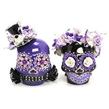 amazon com purple and black day of dead love never dies skull