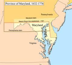 maryland map capital history of maryland
