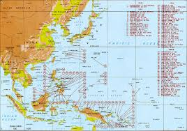 Southeastern Usa Map by Pacific War Wikipedia