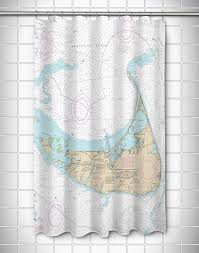 Coastal Shower Curtain by Ma Nantucket Ma Nautical Chart Shower Curtain Nautical