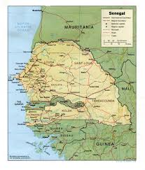 Georgetown Map Upcountry To Georgetown The Gambia