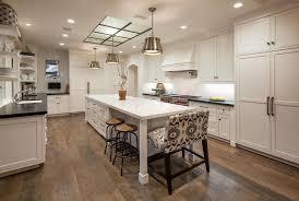 kitchen with hardwood floors u0026 custom hood in santa barbara ca