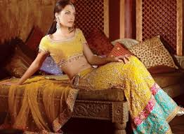 Indian Style - bridal wear dress yellow indian style sharara designer