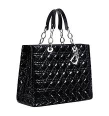 Dior Soft U201d Shopping Bag In Black Patent Leather Christian Dior