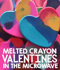crayon valentines microwave melted crayon valentines simply kinder