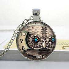 steampunk owl necklace images Steampunk owl necklace glass pendant steamopoly jpg