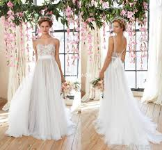flowy wedding dresses cheap flowy wedding dresses 2016 sheer illusion neckline