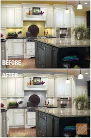 painting walls two different colors photos different color kitchen cabinets kitchen cupboards diy kitchen by
