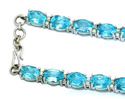 blue topaz bracelet white gold images 39 30ct blue topaz diamond necklace in 14k white gold jpg