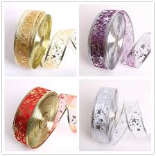 50mm decorations ribbon gold purple silver gilding