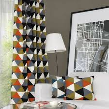 Modern Pattern Curtains Modern Geometric Print Curtains For Blackout Usage