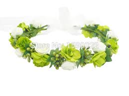 green headband green flower crown dress headband floral hair accessories
