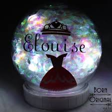 light up snow globe light up snow globe personalized with name icon born original gifts
