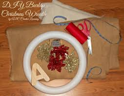 burlap christmas wreath abc creative learning sugar bee crafts