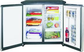 under cabinet fridge and freezer amazon com igloo fr551 5 5 cubic feet side by side 2 door