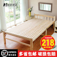 small bed buy free shipping self wood folding bed folding bed 1 m free