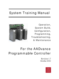 aadvance comprehensive training manual rev 1 7 oct 2012