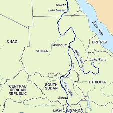 nile river on map the nile river and nile delta in