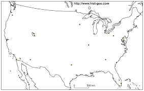 Map Of The World Black And White by Outline Map Of Main Us Cities