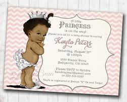 color princess baby shower invitations