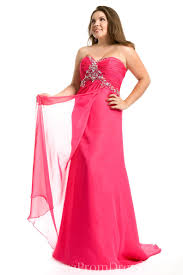 chiffon strapless beaded fashion evening dress plus size special