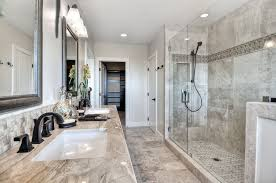 traditional master bathroom with limestone tile by cindee cano and