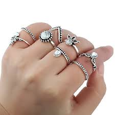 ring sets silver ring set
