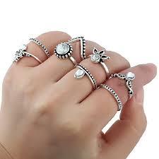 ring set silver ring set