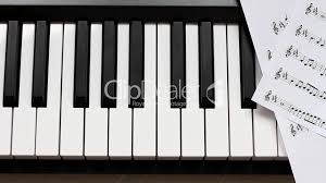 piano keyboard and notes royalty free video and stock footage